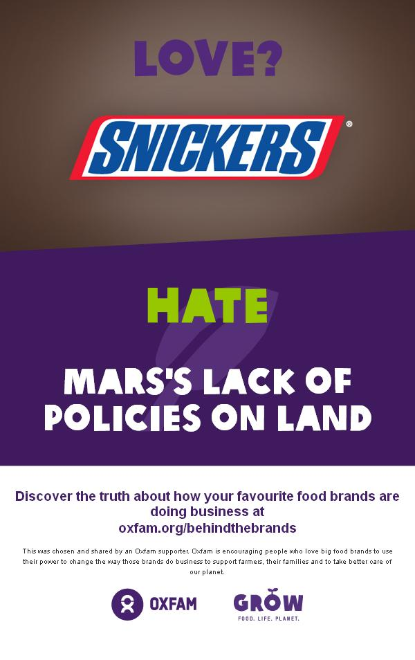 snickers behind the brands